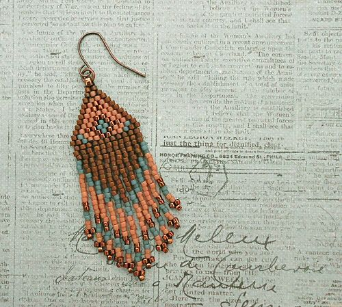 Linda's Crafty Inspirations: Playing with my beads...Fringe Earrings #48 & #49