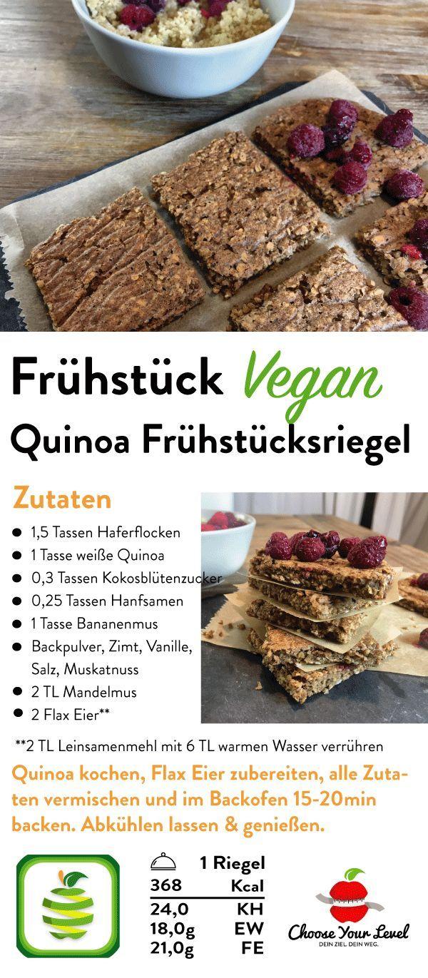 Quinoa Fruhstucksriegel Rezept Fruhstucksriegel Rezepte Und Musliriegel Rezept