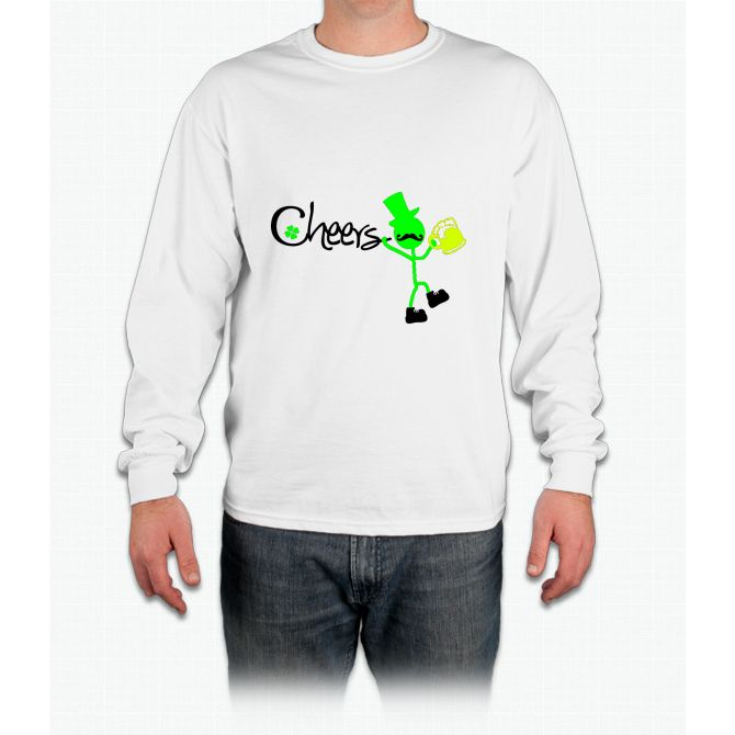 Cheers Irish- st patricks day shirts Long Sleeve T-Shirt