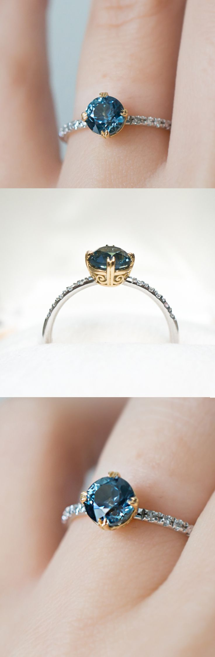 Gorgeous antique open-work details on this Sapphire ring by S. Kind & Co.