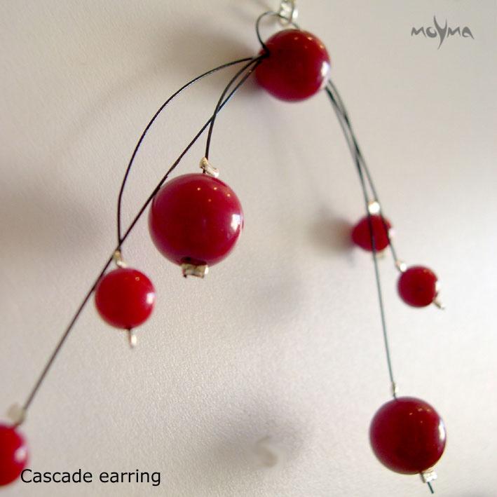 Coral Cascade Earrings