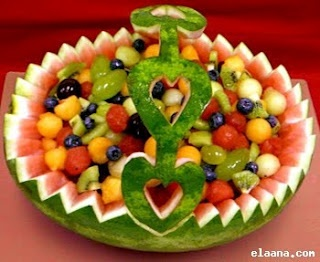 I am absolutely OBSESSED with melon baskets. This one particularly!