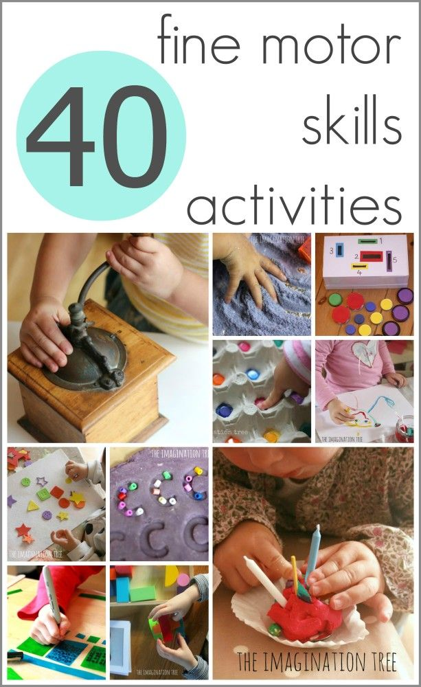*Fine Motor Skills* Love these fine motor skills ideas from the Imagination Tree. Such a wonderful website with TONS of educational, creative and developmental ideas for Babies - Primary School Children.