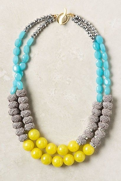 Necklace.: Colors Combos, Anthropology, Congeri Necklaces, Statement Necklaces, Diy Necklaces, Beads Necklaces, Colors Combinations, Jewelry, Summer Colors