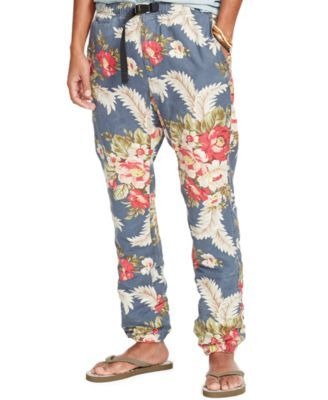Denim & Supply Ralph Lauren Men's Hiking Pants $69.99 Made from cotton and linen canvas, this floral hiking pant has a webbed belt at the waist for a customizable fit.
