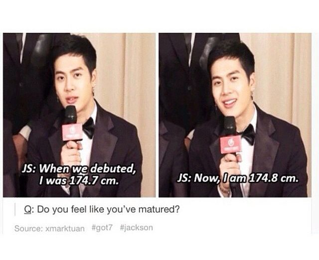 Literally what I would say about my height