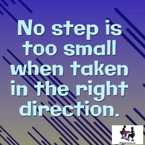 Step forward even if you have to tiptoe. #step #forward #direction #tiptoe #right