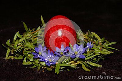 Easter egg and wreath from willow