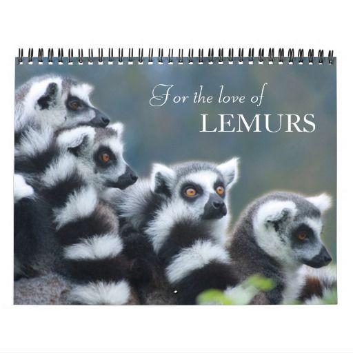 2016 For the love of lemurs  photo calendar