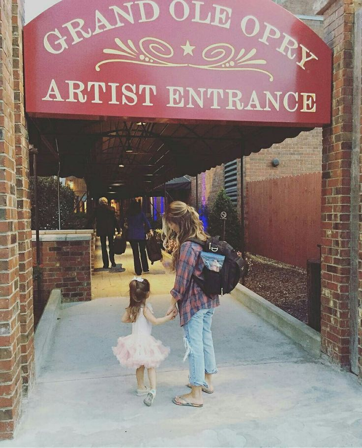 Vivi entering the opry with her mama. #makinmemories
