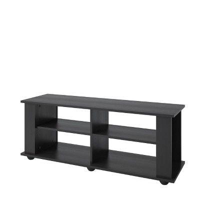 Flat Panel Tv Stand CorLiving Ravenwood Black, Brown