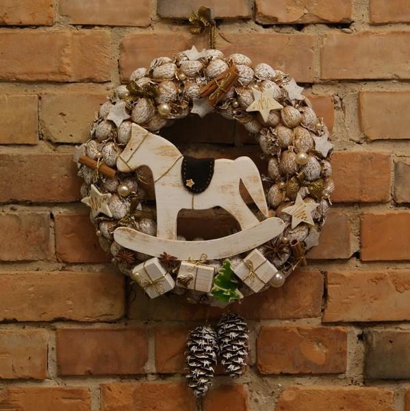 Wianek,ozdoba świąteczna, koń na biegunach. Ręcznie wykonany, Handmade by Suzi Handmade in category Crafts/Woodworking. Located in Choszczno, Poland