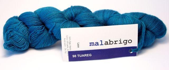 włóczka Malabrigo Lace col. 98 Tuareg - 100% wełna baby merino 98 Tuareg   Włóczki wg producenta \ Malabrigo \ Lace Włóczki \ Wełna owcza 100% \ Merino Malabrigo   ART-BIJOU