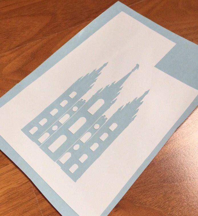 Utah State Salt Lake City Mormon Temple, Mormon Church, LDS, UT decal, pride, beliefs, religion decal, sticker, vinyl adhesive. by DizzyBellDesigns on Etsy