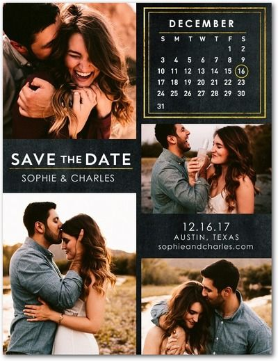 Ornate Calendar - Save the Date Postcards - Magnolia Press - Black : Front