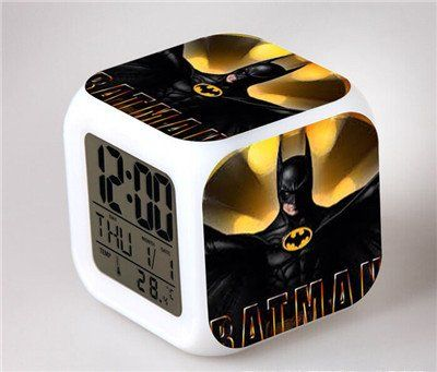 Superhero LED Alarm Clock - Batman VS Superman Action Figure Joker Won – Superhero Universe