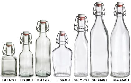 Glass not plastic please! source for glass bottles in all shapes/sizes