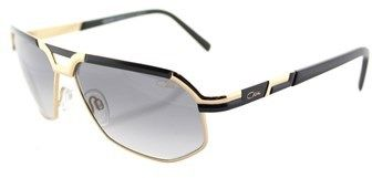 Cazal 9056 001 Black Gold Aviator Sunglasses.