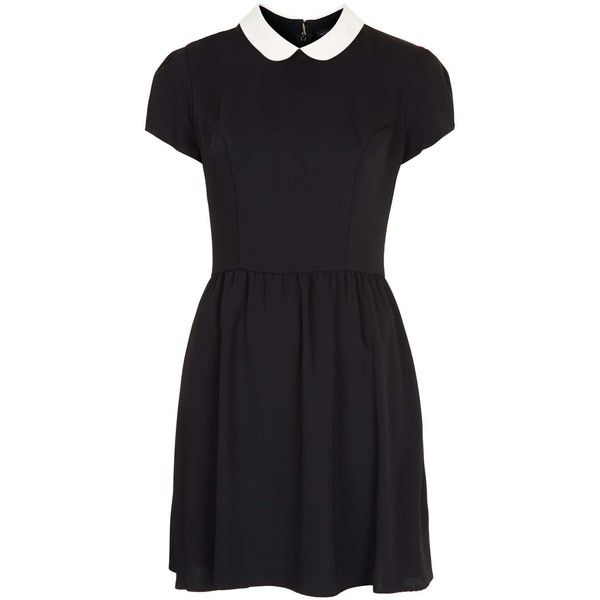 TOPSHOP Contrast Collar Dress found on Polyvore