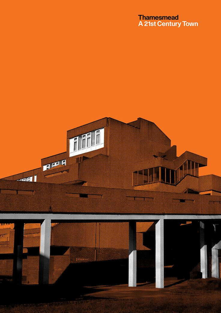 Peter Chadwick's poster series is a graphic response to sound recordings about Thamesmead, a Brutalist town built to re-house families living in cramped victorian slums