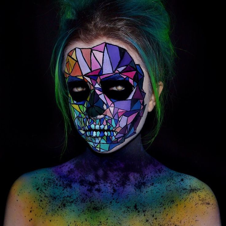 "kimberleymargarita_: ""Thank you so much to @meltcosmetics for choosing me as one of their winners I was so thrilled! All the other entries were so stunning!! Thank you SO much to everyone who left me such sweet and supportive comments love you guys so much! Here's my look I did last night FRAGMENTED SKULL it was inspired by a photo I saw on Pinterest. It also reminded me of something the skull queen @the_wigs_and_makeup_manager has done. Hope everyone is having an amazing weekend…"