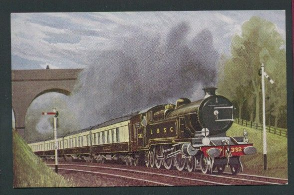 LBSC Steam Locomotive 332 The Southern Belle Nr Merstham Railway Art Postcard Listing in the Rail,Transportation,Postcards,Collectables Category on eBid United Kingdom