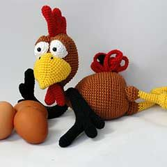 Poultry Paul amigurumi crochet pattern by IlDikko