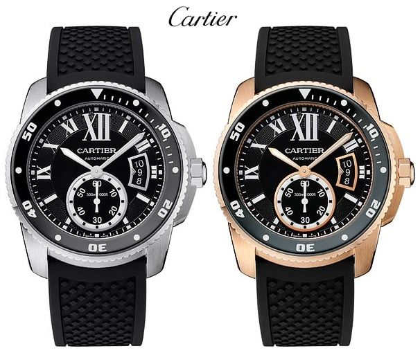 Cartier Calibre de Carter Diver duo
