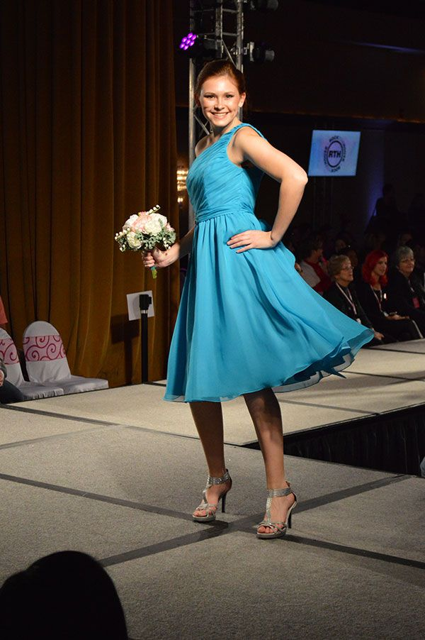 Popular Lavender Bridal Salon blue bridesmaid dress as seen at the Today us Bride Fashion Show Todaysbride