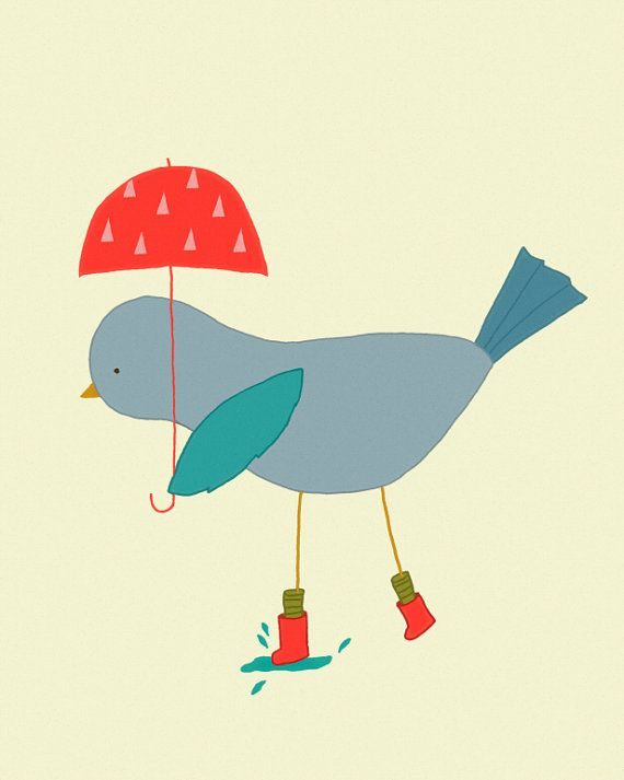 bird art print kids art illustration print nursery by dazeychic 2000 - Print For Kids