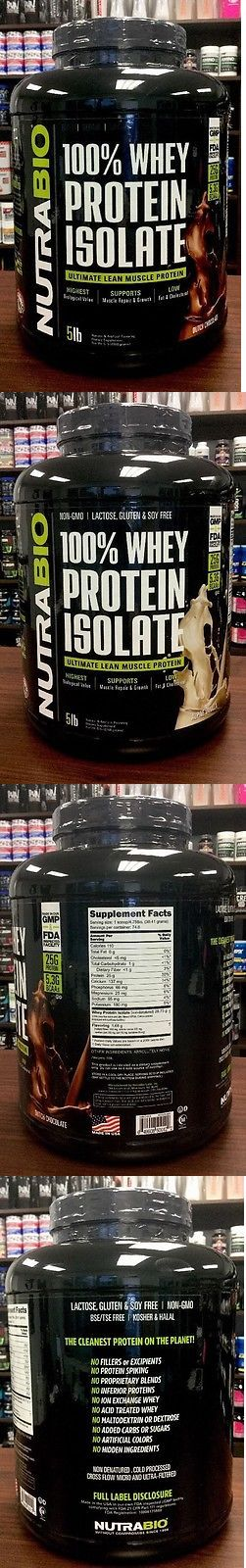 Other Sports Supplements: Nutrabio - 100% Whey Protein Isolate (5Lbs) Dutch Chocolate Or Alpine Vanilla BUY IT NOW ONLY: $78.98