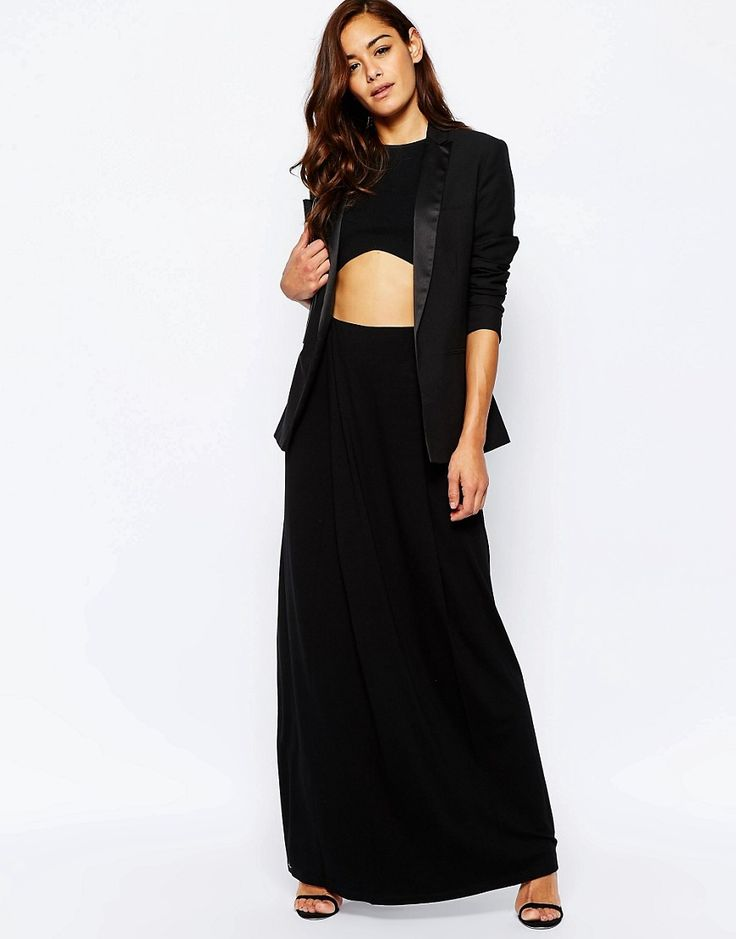 ASOS+Maxi+Skirt+with+Front+Layer+Panel