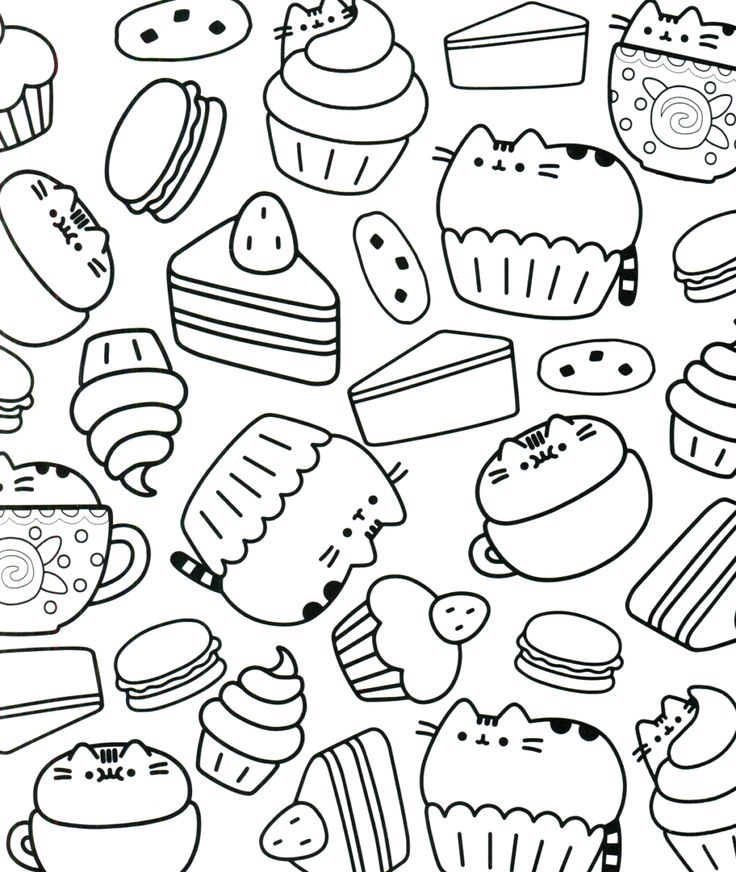 33+ Pusheen pizza coloring pages info