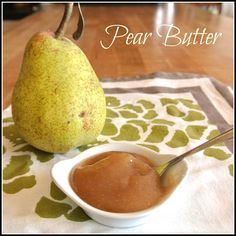 Pear Butter step by step easy recipe. This was so good. House smelled like pie. I used ground cinnamon instead of sticks and turned out yum! let it cool a little before putting in the blender to puree.
