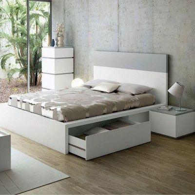 Lit design avec tiroirs Twist Gris 180 cm