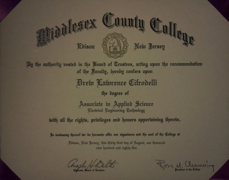 Middlesex County College Diploma Apostille College