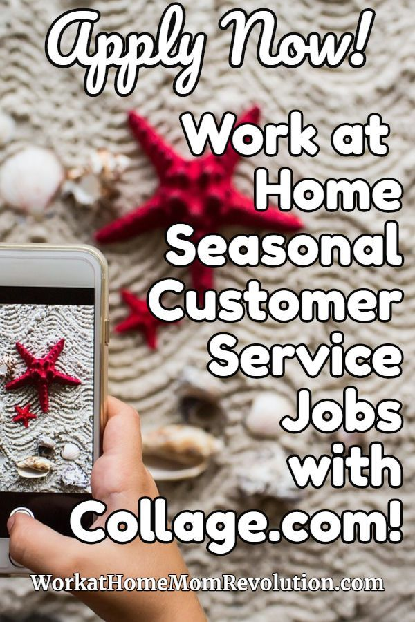 Seasonal Work At Home Customer Service Jobs With Collage