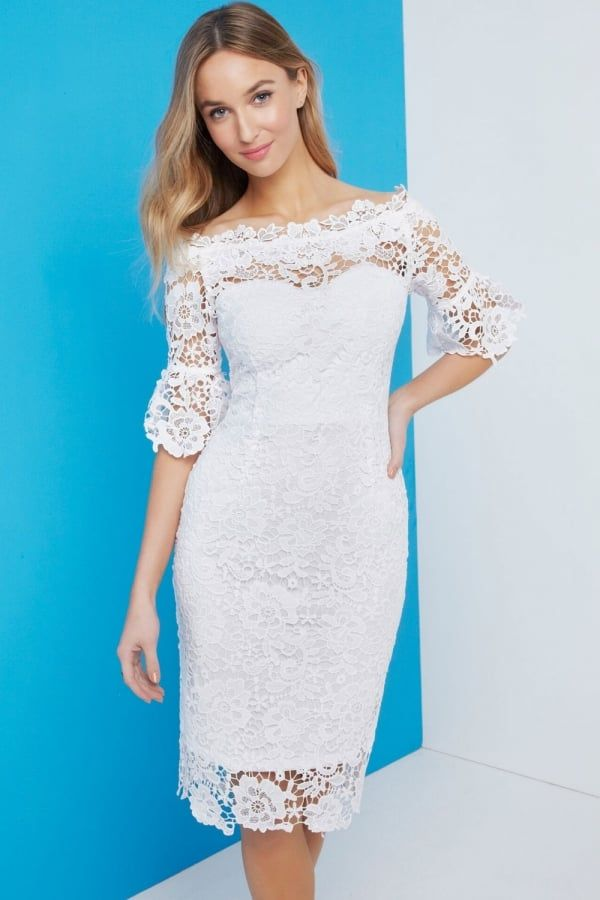 White Bardot Dress
