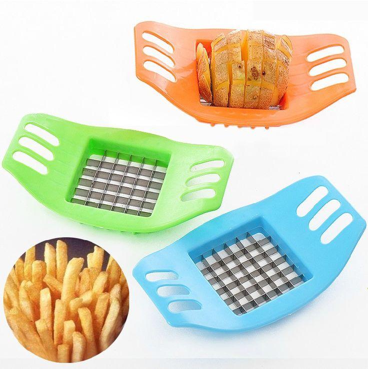 Aço inoxidável corte o dispositivo batatas dispositivo de corte de batata frita vegetal ferramenta de corte cortador de batata para batatas fritas 2664 alishoppbrasil