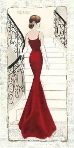 ➗La Belle Rouge Poster von Emily Adams -