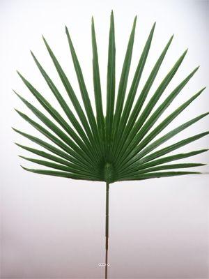 Feuille palmier Chamaerops artificielle H 53 cm D 36 cm ext du site Artificielles.com.