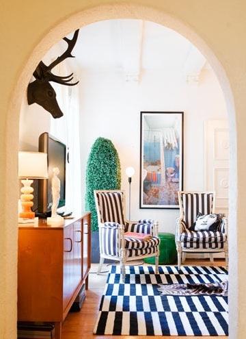 gary spain arch doorway living room