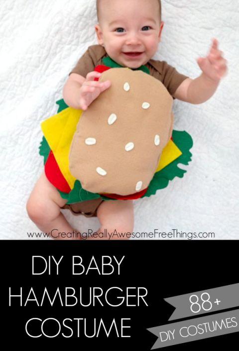 DIY Baby Hamburger costume