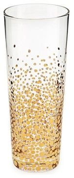 Bubbly Gold Champagne Flutes, Set of 4 contemporary everyday glassware