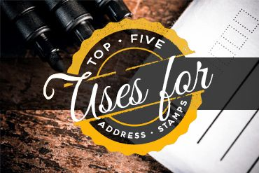 Take a look at some fun, non-traditional ways you can use address stamps!