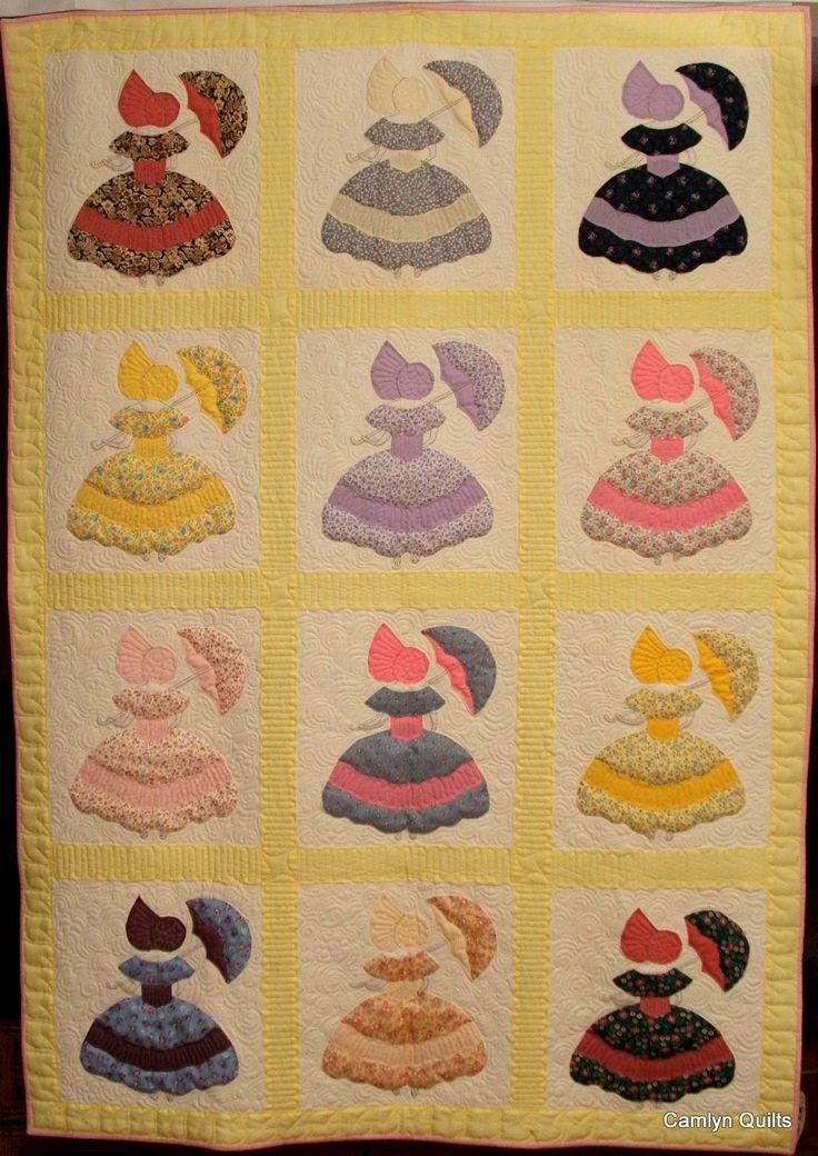 "Miss ""Emma"" Quilt.  Parasol Ladies applique.  Beautiful quilt."