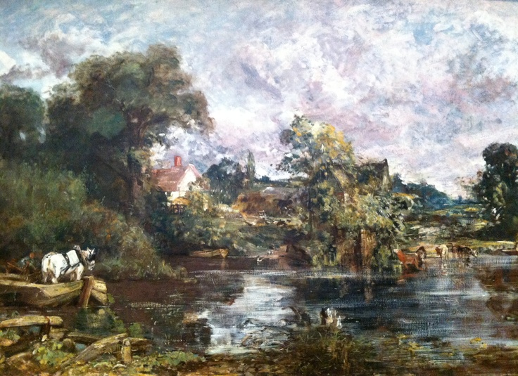 I'd always wondered that Braid's art was inspired by Constable's. There's an energy to his brushwork that isn't present in his British contemporaries' typically understated and reserved works. Constable was more popular in France, during his lifetime, than he was at home.