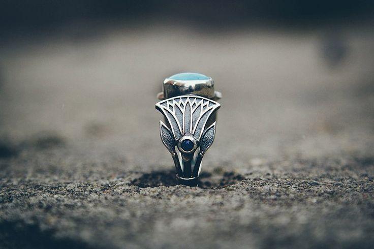 """Silver ring """"Nefertem"""""""