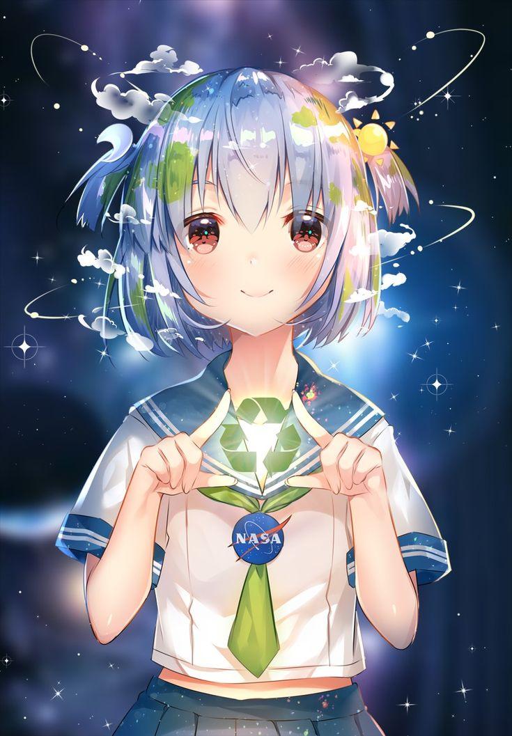 SAVE EARTH-CHAN | 兔姬(´▽`) #pixiv https://www.pixiv.net/member_illust.php?illust_id=67104659&mode=medium