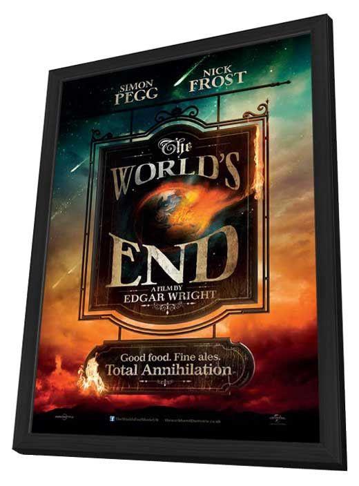 The World's End (UK) 11x17 Framed Movie Poster (2013)